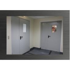 Дверь двухстворчатая  1370мм *2070мм  со стеклопакетом